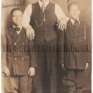 Antique African American Man w/ Sons Real Photo Postcard RPPC Black Americana