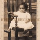 Antique African American Young Girl Real Photo Postcard RPPC Black Americana 01