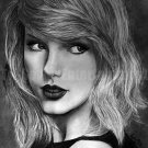 Taylor Swift Fine Art Pencil Drawing Portrait 11x17 Signed Print By Kate Orr