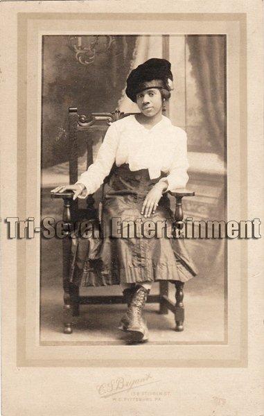 Antique African American Pretty Lady Real Photo Postcard RPPC Black Americana 01