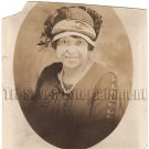 Antique African American Woman in Hat Real Photo Postcard RPPC Black Americana