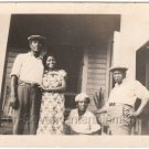 c1930s African American Family Posing Antique Photo Black Americana Women Men