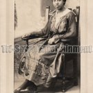 Antique African American Pretty Lady Real Photo Postcard RPPC Black Americana 02