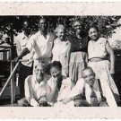 1950s African American Older Men Woman Family Group Photo Black Americana