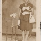 Vintage Pretty African-American Woman Large Photo Booth Black Americana People