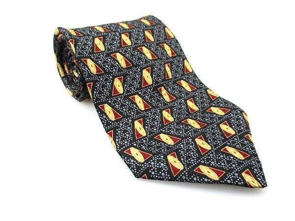 Men's New BILL BLASS 100% Silk Tie Black Burgundy NWOT Necktie Ties BL0154
