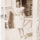 Vintage African American Photo Young Woman in Dress People Old Black Americana