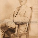 Antique African American Dapper Man Real Photo Postcard RPPC Black Americana 01
