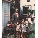 1970s Vintage African-American Grandfather w/Grandkids Photo Black People Color