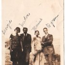Antique African American Young People Photo Men Women Dress Suit Black Americana