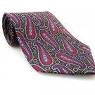HARVE BERNARD Men's New Tie Burgundy Green Paisley NWOT Necktie Ties R0189