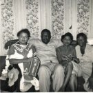Vintage African American Photo Family Group People Man Women Old Black Americana