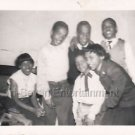 1940-1949 Vintage African-American Happy Family Photo Black People Kids B&W USA