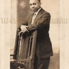Antique African American Young Man Suit Real Photo Postcard RPPC Black Americana