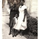 Vintage African American Photo Pretty Woman with Boy Women Old Black Americana