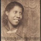 Vintage Pretty African-American Young Woman Large Photo Booth Black Americana
