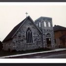 1972 Vintage Old Episcopal Church Photo Michigan Color Polaroid Stone Building