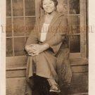 Antique African American Pretty Lady Real Photo Postcard RPPC Black Americana 07