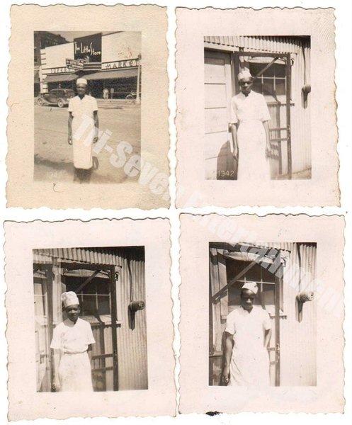 1939-1942 Vintage African American Men Chef Photo People Black Americana (Lot 4)