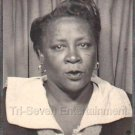 1940s Pretty Dark Skinned African American Woman Old Photo Booth Black Americana