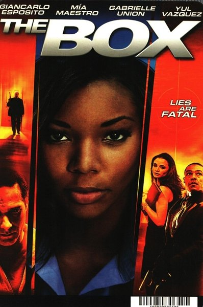 African American Collectible Movie BACKER CARD Gabrielle Union THE BOX