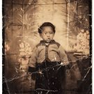 Vintage Adorable African-American Young Boy Photo Booth Black Americana Children