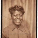 Vintage Happy Pretty African-American Woman Photo Booth Black Americana Beauty