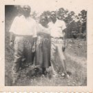 Vintage African American People Posing Outside Old Photo Black Americana Family