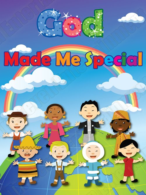 God Made Me Special Children's Poster Colorful Art World Kids Series 03 (18x24)