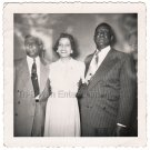 1940s-50s Four Good-Looking African-American Middle-Aged People Posing Old Photo