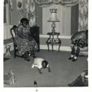 Vintage African American Photo Baby Playing in Living Room Old Black Americana