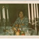 Vintage African American Photo Woman Smiling at Dining Table Old Black Americana
