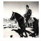 Vintage African American Photo Pretty Woman on Horse Old Black Americana