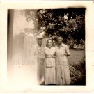 1940-50s Pretty African-American Woman w/Aunt Uncle Old Photo Black Americana