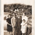 30s Antique African American Family People Child Group Old Photo Black Americana