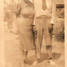 Antique African American Photo Older Couple Man People Woman Old Black Americana