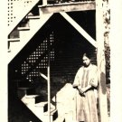 Antique African American Photo Pretty Woman with Dog Old Black Americana
