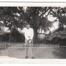 Vintage African American Photo Man Posing Outside Men People Old Black Americana