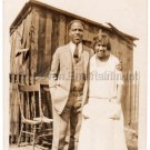 1930s African American Man Older Woman People Mother Old Photo Black Americana