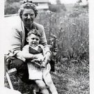 1940s Vintage Smiling Boy w/Grandma Cute Kid Old Photo B&W Children American USA