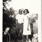 Antique African American Photo Young Couple Man Pretty Woman Old Black Americana