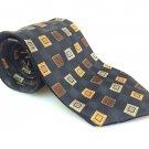 CROFT & BARROW Men's New 100% Silk Tie Gold Green Black NWOT Necktie Ties B1003