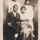 Antique African American Lovely Family Real Photo Postcard RPPC Black Americana