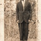 Antique African American Man Real Photo Postcard RPPC Old Black Americana TRP12