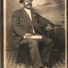Antique African American Man Real Photo Postcard RPPC Old Black Americana TRP08