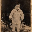 Antique African American Child Real Photo Postcard RPPC Black Americana TRP22