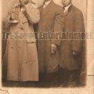 Antique African American Men Real Photo Postcard RPPC Old Black Americana TRP09