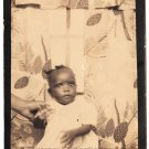 Vintage African American Cute Baby Girl Photo Booth Old Black Americana TPB29