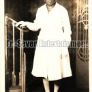 Vintage African American Woman in White Dress Old Photo Black Americana V12
