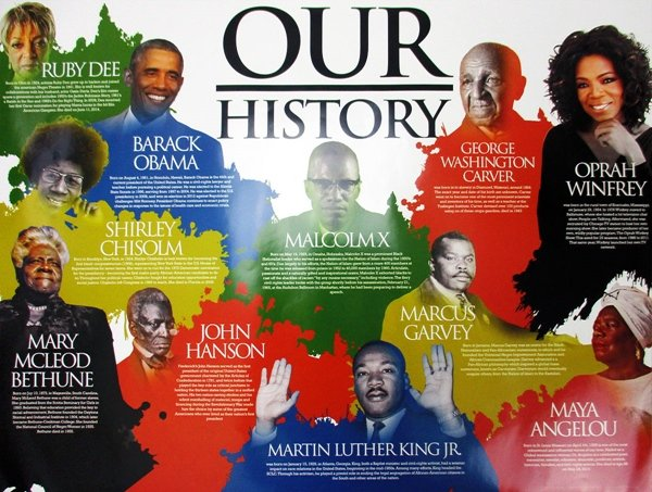 Our Black History Poster African American Famous Black People w/ Biography 18x24